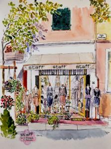 peinture magasin Staff